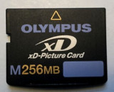 OLYMPUS XD card capacitate 256MB