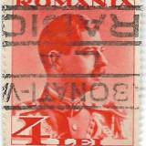 Carol II uzuale, 1934, 4 lei, obliterat (5), Regi, Stampilat