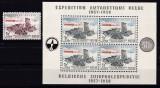 Belgia  1957  fauna  caini  expeditii  MI 1072 + bl.25  MNH w51, Nestampilat
