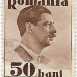 Carol II uzuale, fara Posta, 1934, 50 bani, obliterat, Regi, Stampilat