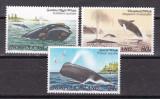 Norfolk 1982  fauna  marina  balene  MI 286-288   MNH w51, Nestampilat