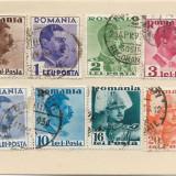 Uzuale Carol II cu inscriptia Posta, 1935, serie completa, obliterata (2), Regi, Stampilat