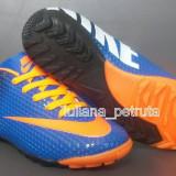 Adidasi Nike Mercurial- albastru cu portocaliu, 36, 37