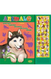 Carte cu sunete: Animale (romana+engleza) - Inesa Tautu, Inesa Tautu