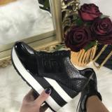 Adidasi dama negri cu platforma marime 40+CADOU, Culoare: Din imagine