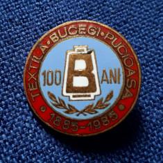 Insigna Textila - Bucegi - Pucioasa - 100 ani