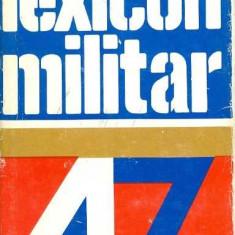 Lexicon militar - Academia Militara - Dictionar