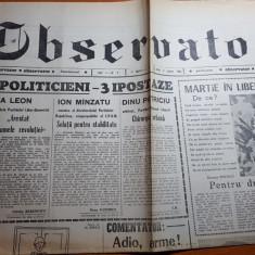 Ziarul observator 2 martie 1990-articol despre dinu patriciu