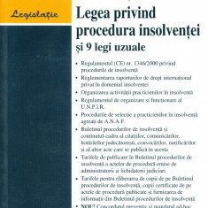 Legea privind procedura insolventeinr.85/2006 si 9 legi uzuale - Carte Legislatie