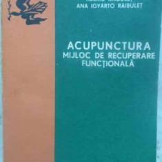 Acupunctura Mijloc De Recuperare Functionala - Tiberiu Raibulet Ana Igyarto Raibulet, 412430 - Carte Medicina alternativa