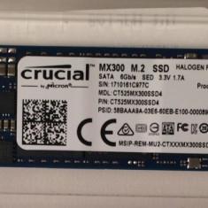 SSD Crucial MX300 525GB SATA-III M.2 2280 /nou -zero ore utilizare /ideal apple, 512 GB