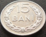 Moneda 15 Bani - RS ROMANIA, anul 1975  *cod 4253 = XF + LUCIU INTEGRAL