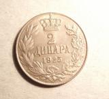 YUGOSLAVIA 2 DINARI -UNC / VARIANTA CU SEMN MONETAR, Europa