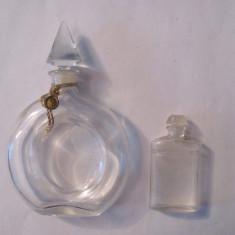 GE - Lot 2 sticle sticlute (mai) vechi parfum Franta - Sticla de parfum