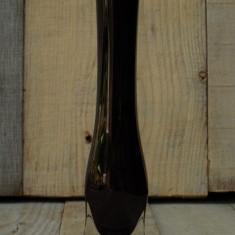 """VAZĂ SOLIFLORĂ VECHE - FĂCUTĂ DIN STICLĂ GROASĂ """"RUBIN"""" ÎN ROMÂNIA ANILOR 1970! - Vaza sticla"""