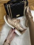 Pantofi dama roz auriu marime 37, 40+CADOU, Din imagine, Cu talpa joasa