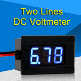 voltmetru display led digital 3 digiti 0.36 inch dc 4.5-30v albastru