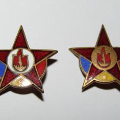 Lot 2 insigne Pionier gradul I si gradul II