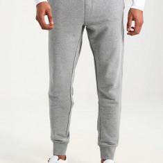 Pantalon trening slim fit Tommy Hilfiger CH masura S M (ultima bucata) - Pantaloni barbati Tommy Hilfiger, Culoare: Gri, Lungi, Bumbac
