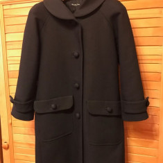 Palton dama Massimo Dutti, bleumarin închis, XS, Marime: 36