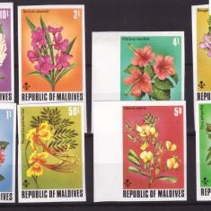 Maldives 1973 - Flori, serie nedantelata neuzata - Timbre straine