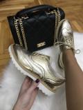 Pantofi dama aurii marime 36,   39, 40+CADOU, Cu talpa joasa