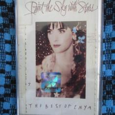 ENYA - THE BEST OF. PAINT THE SKY WITH STARS (1 CASETA AUDIO ORIGINALA CA NOUA!), Casete audio