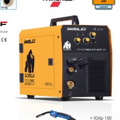 Aparat de sudura MIG MAG IWELD Pocketmig 215 Aluflux, rola sarma 270mm, Monofazat, 200-250, 2-4