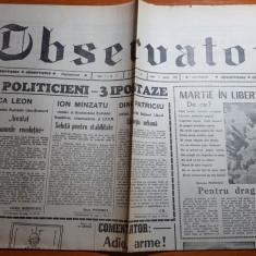 "Ziarul observator 2 martie 1990-articolul "" martie in libertate """