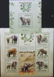 MOZAMBIQUE - ELEFANTI SI MEDIU AMBIANT, 2012, 1M/SH + 1S/S, NEOB. - MZ 59, Fauna