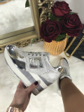 Adidasi dama argintii cu platforma marime     40+CADOU