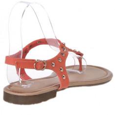 Sandale dama piele ecologica corai