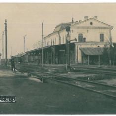 4259 - FOCSANI, Railway Station - old postcard, real PHOTO - unused - Carte Postala Moldova 1904-1918, Necirculata, Fotografie