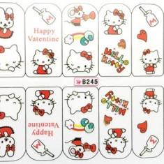 Tatuaje Unghii Love Hello Kitty