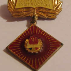 Insigna pionier - Comandant Instructor