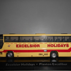 Macheta autobuz Excelsior Holidays - Plaxton Excalibur - Atlas scara 1:72