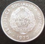 Moneda 15 Bani - RS ROMANIA, anul 1975  *cod 245 = XF + LUCIU INTEGRAL, Aluminiu