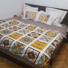 Vand pat matrimonial (culoare wenge) 180 x 200 + saltea - Pat dormitor