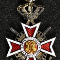 Decoratia Ordinul Coroana Romaniei, Cavaler, Tip 2 cu Spade
