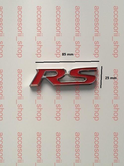 emblema logo RS metal
