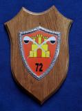 Placheta Batalionul 72 Sighisoara -  Chimie militara