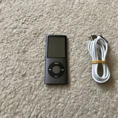 iPod Nano Apple 4th gen 16GB+cablu (autonomie baterie 18 ore la volum maxim ), 4th generation, Negru