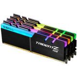 Memorie GSKill Trident Z RGB 64GB DDR4 3600MHz CL17 1.35v Quad Channel Kit, DDR 4, Peste 16 GB