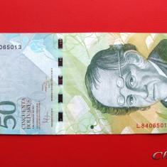 VENEZUELA  -  50 Bolivares 2011  -  aUNC