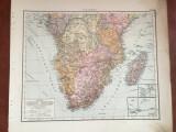 Africa - Veche harta inceput de secol XX Sudafrika !
