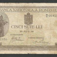 ROMANIA 500 LEI 1940 [2] - Bancnota romaneasca