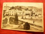 Ilustrata Zalau- Piata Libertatii 1957 ,spate julit, Circulata, Printata
