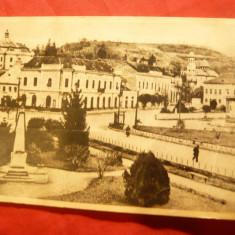 Ilustrata Zalau- Piata Libertatii 1957, spate julit - Carte Postala Crisana dupa 1918, Circulata, Printata