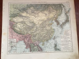 Veche harta inceput de secol XX Central und Ostasien / Asia centrala si de Est !