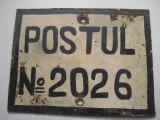 Postul nr. 20-26- locatie post militar-Politie-Militie.